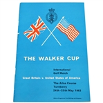 1963 The Walker Cup at Turnberry Official Program - Deane Beman Collection