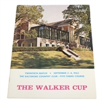 1965 The Walker Cup at Baltimore Country Club Official Program - Deane Beman Collection