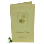 1974 World Golf Hall of Fame at Pinehurst Enshrinement Dinner Menu - Deane Beman Collection