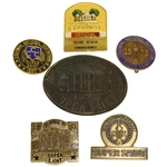 Deane Bemans Six Colonial Badges - Various Years