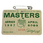 1967 Masters Tournament Series Badge #13728 - Gay Brewer Winner