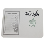 Tom Watson Signed Augusta National Golf Club Scorecard JSA ALOA