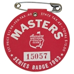 1963 Masters Tournament Badge #15057 - Jack Nicklaus First Masters Victory