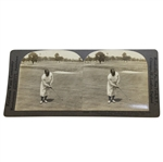 Bobby Jones Keystone View Company Putting with Calamity Jane Putter Stereograph Card