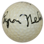 Byron Nelson Signed Ultra Logo Golf Ball JSA ALOA