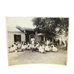 1946 Masters Tournament Caddy Shack Original Wire Photo