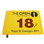 Arnold Palmer Signed 2011 Open Championship at Royal St. Georges Flag JSA ALOA
