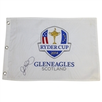 Rory McIlroy Signed 2014 Ryder Cup at Gleneagles Embroidered Flag PSA/DNA #AE00471