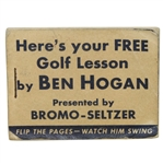 1950s Ben Hogan Heres Your Free Golf Lesson Magic-Eye Movie Flip Book