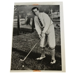 Walter Hagen 1924 Original Press Photo