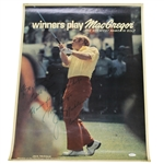 Jack Nicklaus Signed 1973 MacGregor Poster to Pebble Beach JSA #Q49559
