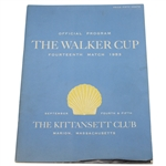 1953 Walker Cup at The Kittansett Club Official Program