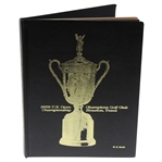 1969 US Open at Champions Club Hardback Program with W.G. Hewitt Engraved