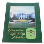 1979 Ryder Cup at The Greenbrier Program
