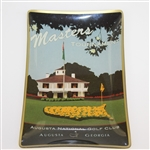 Augusta National Golf Club Masters Clubhouse with Flag Depicted on Ceramic Candy Dish