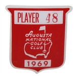 Deane Bemans 1969 Masters Tournament Contestant Badge #48 - George Archer Winner