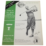 1957 Jaycee Junior Golf Tournament Program - Bob Jones on Cover - Nicklaus Win