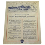 1918 Brentwood Country Club 2nd Annual Invitation Tournament Program/Sheet - SCGA