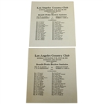 Two 1918 Los Angeles Country Club Exhibition Golf Match Mixed Foursome Programs