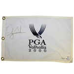 Tiger Woods Signed 2000 PGA at Valhalla Ltd Ed Embroidered Flag 193/500 UDA #BAK42887