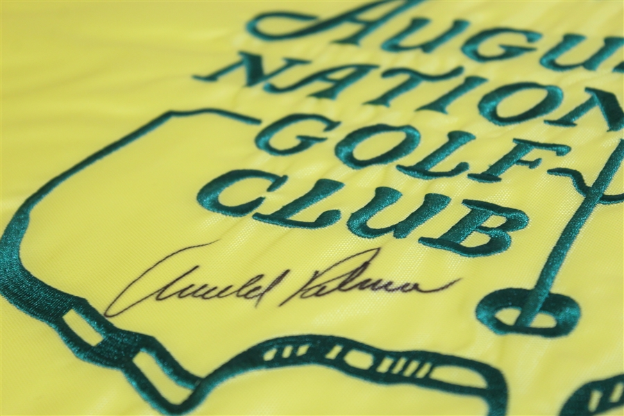 Arnold Palmer Signed Augusta National Golf Club Embroidered Member Flag JSA ALOA