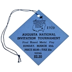 1934 Augusta National Invitational Tournament (Masters) Ticket - The Best Known Example That Exists!