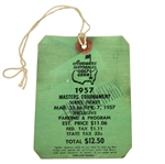 1957 Masters Tournament Series Badge #12 - Doug Ford Winner - LOW NUMBER