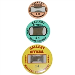 1980, 1981, & 1983 Masters Tournament Gallery Official Badges