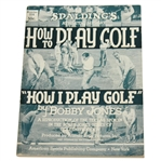1935 How I Play Golf by Bobby Jones - Spalding Athletic Library