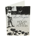 Ben Hogan Signed 1988 APEX Putters Card JSA ALOA