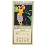 1932 Brown & Bigelow Ltd Advertising Mailing Card with Walter Hagen History by Grantland Rice