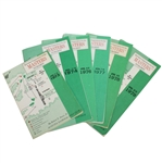 Six Masters Spectator Guides - 1973, 1974, 1976, 1977, 1978, & 1979