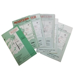 Six Masters Spectator Guides - 1990, 1992, 1993, 1996, 1997, & 1998