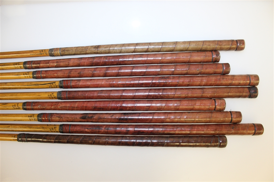 Original Set of Hardy Bros Palakona Bamboo Shaft Irons with Shaft Writing/Stamp