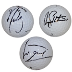 Luke Donald, Rory Sabbatini, & Nick Watney Signed Golf Balls PSA/DNA for Each Ball