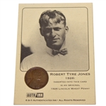 Bobby Jones 1926 Lincoln Wheat Penny Card