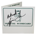 Tiger Woods Signed 1997 Masters Official Scorecard JSA ALOA