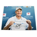 Jim Furyk Signed 11x14 Travelers Scorecard Photo with 58 Inscription JSA ALOA