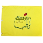 Jack Nicklaus Signed Masters Undated Flag with All Six Wins Notation JSA ALOA