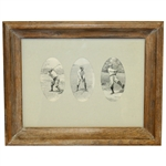 Three 1897 Original Illustrations by A.B. Frost - Framed
