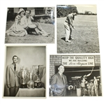 Ben Hogans Personal Photos - With Valerie, Swinging Club, Trophies & Quality High
