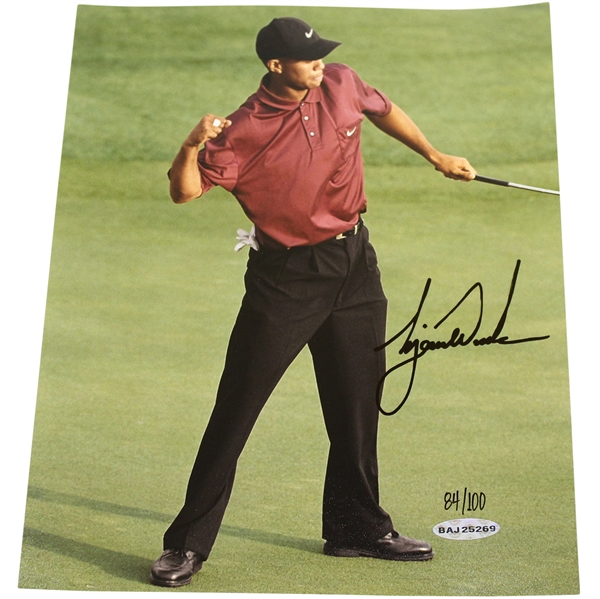 Tiger Woods Signed Ltd Ed 2001 Masters 'Major Moments' Photo 84/100 #BAJ25269