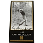 Cary Middlecoff Signed Grand Slam Ventures 1955 Masters Golf Card FULL JSA #Z07181
