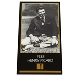 Henry H.G. Picard Signed Grand Slam Ventures 1938 Masters Golf Card FULL JSA #Z07182