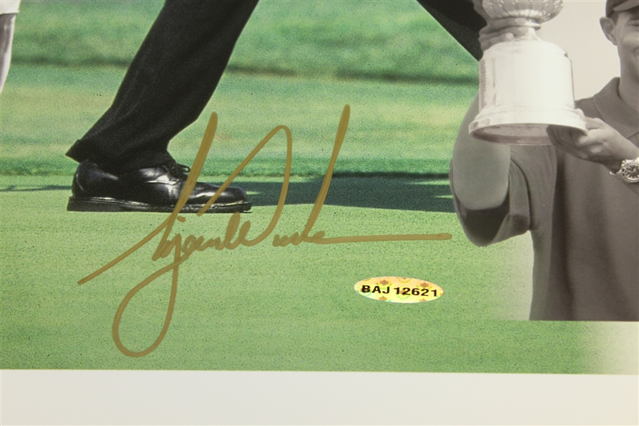 Tiger Woods Signed Major Victories Collage 16x20 Photo #BAJ12621