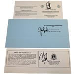 1997 Major Champs Signed Official Scorecards - Els, Leonard, & Love III JSA ALOA