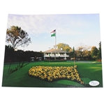 Arnold Palmer Signed Augusta National Clubhouse & Flag Photo JSA #I48675