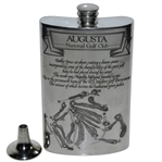 Augusta National Golf Club English Pewter Golf Flask with Funnel - Excellent Condition