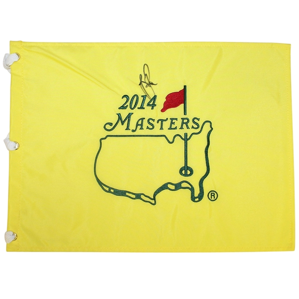 Justin Rose Signed 2014 Masters Embroidered Flag JSA ALOA