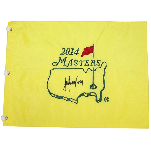Trevor Immelman Signed 2014 Masters Embroidered Flag JSA ALOA